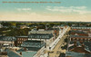 "Postcard: ""Bird's eye view, looking down the Bay, Belleville, Ontario, Canada"". Actually appears to be looking up Front Street, looking north."