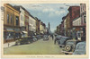 Postcared: Belleville, Ontario. Front Street. Looking south towards City Hall. Mailed to Rocky River, Ohio 1946 July 23rd. Ashley Furs, Belmont Restaurant.