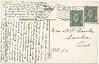 Postcard: Belleville, Ontario. New Concrete Bridge. Bridge Street bridge. Mailed 1935 April 7th. Two different King George V one cent stamps. Back