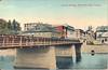 Belleville, Ontario showing Bridge Street bridge (lower bridge) over the Moira River. This bridge was the one before the current concrete arch bridge.
