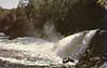 Postcard: Englehart, High Falls at Kapkigigan. Front printed Souvenir Gason Gaspesie. Rear has 32 cent stamp.