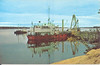 Postcard Department of Transport Ship Puffin at Moosonee, Wal-Mir card 47346-C, two copies