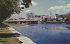 Postcard: Belleville. Looking along Moira River from West bank towards lower bridge (Bridge Street).
