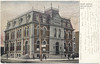 Postcard: Belleville Ontario. Old Post Office at corner of Bridge St E and Pinnacle St. Mailed 1906 November 29 to Cornwall, England, message on front.