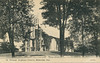 Postcard: St. Thomas' Anglican Church, Belleville. C. B. Scantlebury, Belleville, Ontario. Printed in Great Britain. View of church from corner, intersection of Church and Bridge Streets.