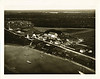 Aerial view of Moose Factory post 1934 August.<br /> Unretouched scan from photograph purchased on Ebay.
