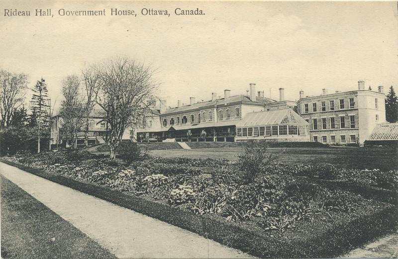Postcard: Rideau Hall, Government House, Ottawa, Canada.