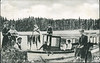 """Postcard: Boating on Long Lake, Charlton, Ontario. Two cent King Edward VII stamp on reverse. Addressed to address St. Heliers, Jersey, English Channel Isles. """"Lake view is only 1 1/2 miles from the farm I have just bought..Dad"""""""