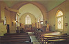Postcard: Moose Factory, St. Thomas Anglican Church Interior, mailed from Cochrane 1979 July 25