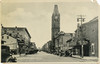 """Postcard: Belleville, Ontario. Front Street. View from south of Capitol Threatre looking towards Bridge Street. Film shown probably """"Jack's The Boy"""" made in 1932. Belleville City Hall. Corner damage."""
