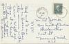 Postcard: Revillon Road, Moosonee. Mailed July 25, 1951. Back