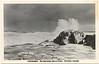Postcard: James Bay 57-1 - series Moosonee, the Northern End of Steel, Ontario, Canada. unused. Waves breaking on rocks. Location unknown.