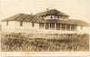 "Postcard: Moosonee: James Bay Inn. Handwritten ""1931"". Was located near current baseball diamond, parts of foundation walls still visible."