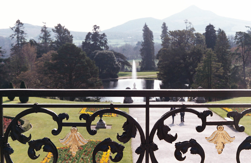 Lovely ironwork on the terrace.