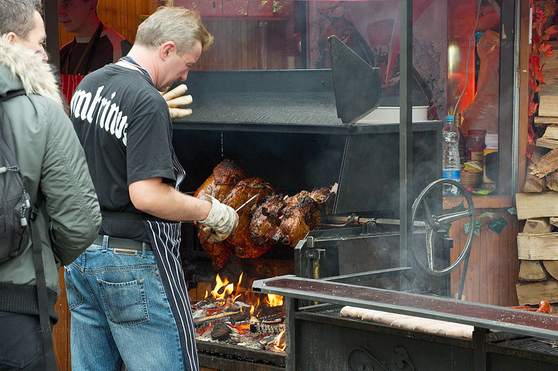 Roasted ham - yummy!! (horrendous prices, but worth it!)