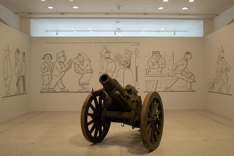 Schweik at the Czech national museum in prague