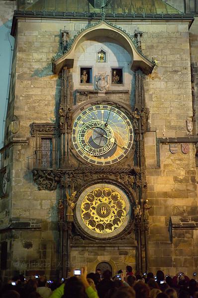 Torists at the astronomical clock