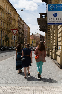 Walking the streets of Prague