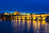 Charles Bridge (Karlův most) during blue hour
