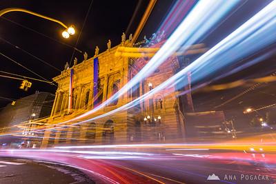 National Theatre (Národní divadlo) at night