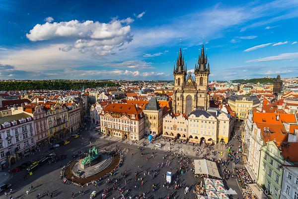 Old Town Square (Staroměstské náměstí) from the Old Town Hall Tower