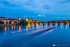 Charles Bridge from Mánes Bridge (Mánesuv most) during blue hour
