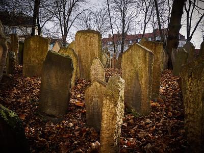 Old Jewish Cemetery. Old Prague spring 2017