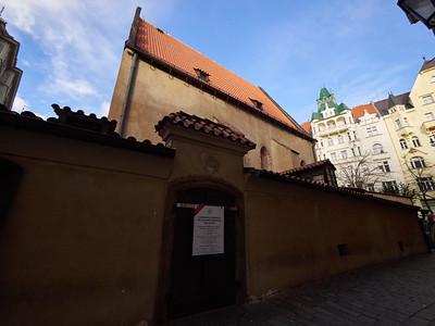 Old New Synagoga. Prague spring 2017
