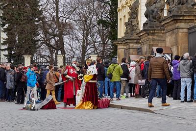 The Kings of the Democracy. Prague Castle. Prague spring 2017