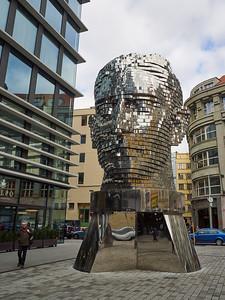 Kafka head. Prague spring 2017