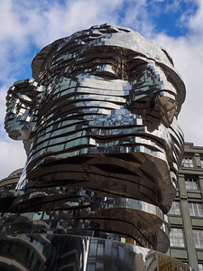 Kafka head. Prague spring 2017