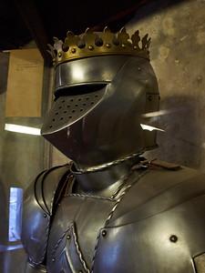 Helmet. Prague Castle. Prague spring 2017