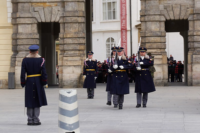 Guards of the Democracy . Prague Castle. Prague spring 2017