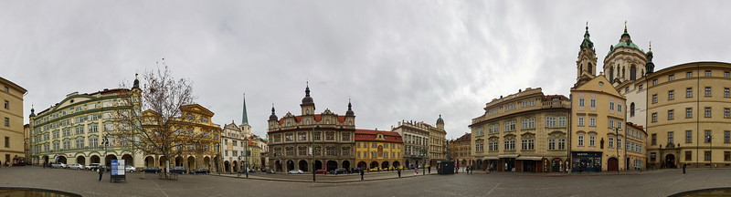 Malostranska Namesti. Prague spring 2017