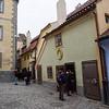 Golden lane. Prague Castle. Prague spring 2017