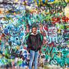 The Lennon Wall. Mala Strana. Prague spring 2017