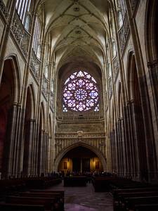 St Vitus kathedraal. Prague Castle. Prague spring 2017
