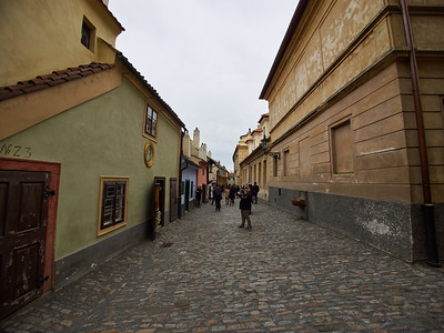 Golden lane. Prague Castle. Prague spring 2017