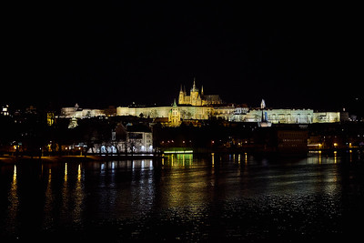 The Castle. Prague spring 2017 . Prague by night