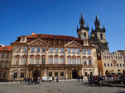 Old Town Square. Prague spring 2017