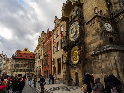 Astronomical Clock. Stare Mesto. Prague spring 2017