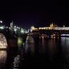 Charles bridge. Prague spring 2017 . Prague by night
