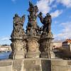 By the Charles Bridge. Prague spring 2017