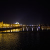 Vltava. Prague spring 2017 . Prague by night