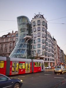 Dancing House By the Vltava. Prague spring 2017