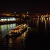 Vltava. Prague spring 2017 . Prague by night