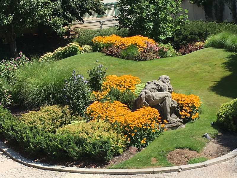 Garden outside the hotel