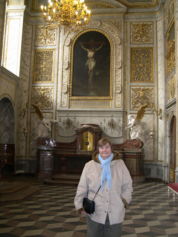 Susan in Holy Cross Chapel in Prague Castle.