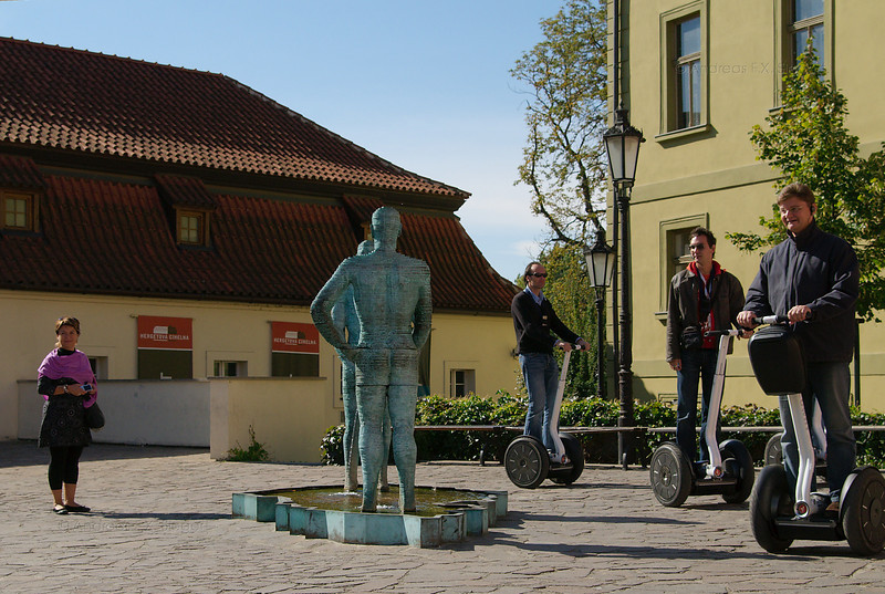 Segway tourists and the pissing men