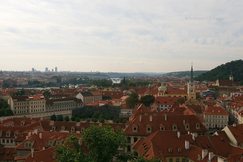 Prague view from the castle